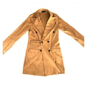 PLT Camel Blazer Dress - Size 4